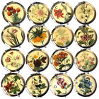 7cm dia. double sided mirror compact | choice of natural flower designs