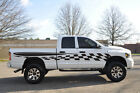 Checkered Flag Race Pick Up Vinyl Decal Graphic Vehicle Truck Car Dodge Ram SUV