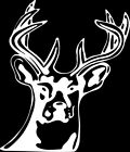 Deer 1 Color Window Wall Vinyl Decal Sticker Printed Mascot Graphic