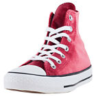 Converse Chuck Taylor Allstar Hi Velvet Womens Red Walking Trainers New Style
