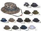 Army Navy Shop UV Protective Solid or Camouflage Boonie Hat Military Outdoors