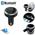 LCD Wireless Bluetooth FM Transmitter Car Charger MP3 Music Player 2USB Call