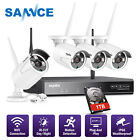 SANNCE Wireless 4CH 1080P NVR 4x CCTV In/ Outdoor Security Camera System NO/1TB