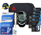 True Blood Glucose Monitor Full Meter Kit Diabetic 210 Test Strips & Lancets