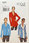 VOGUE PATTERN TOP TUNIC PJACKET SEMI FITTED 3 DESIGNS SIZE 14-22 # V9152