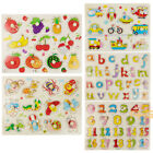 Kid/Toddler Peg Jigsaw Puzzle Baby Developmental Wooden Game Toy Xmas Funny Gift