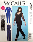 MCCALL' S PATTERN JUMPSUIT SEMI FIT MISSES' or MISS PETITE 6-14 or 14-22 # M7292
