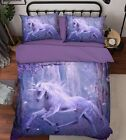 3D Magic Unicorn Bed Pillowcases Quilt Duvet Cover Set Single Queen King Size AU