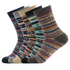 5 Pair Women Knit Wool Cashmere Thick Sock Lady Casual Winter Warm Thermal Socks