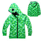 Kids Boys Youth Creeper Hoodie Zip-Up Coat Sweater Jacket Sweatshirt Costume