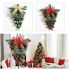Home Christmas Decorations Upside down Party Xmas Tree Hanging Ornaments Plastic