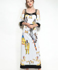 New Occident Modern Vintage Printed fashion sequins strapless hot Cocktail dress