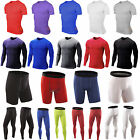 Mens Compression Base Layer Thermal Skin Fitness T-Shirt Top Shorts Long Pants