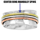 Two Tone Spinner 925 Sterling Silver Ring Jewelry DGR1005