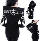 Women Sweatshirt Style Print Hood Gothic Punk Casual Long Sleeve Hoodies Tops~