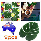 New 12Pcs Artificial Leaf Tropical Palm Leaves Party  Home Garden Wedding Decor