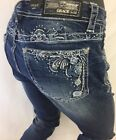 Womens GRACE in LA Jeans PAISLEY Colorful Stitch FLORAL Skin