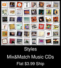 Styles(12) - Mix&Match Music CDs - $3.99 flat ship