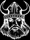 Viking #3 1 Color Window Wall Vinyl Decal Sticker Printed Mascot Graphic