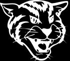 Wildcat 1 Color Window Wall Vinyl Decal Sticker Printed Mascot Graphic