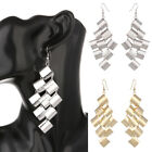 1 Pair Elegant Women Gold Silver Ear Stud Hook Fashion Earrings Dangle Jewelry