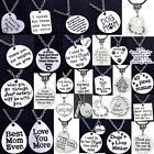 Inspirational Necklace Gifts For Women Men Mom Dad Sister Friends Presents Charm