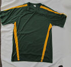 Mens shirt Jersey Small large 4XL Green Yellow gold warm up athletic Sport NEW