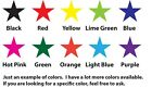 Внешний вид - Star Vinyl Decal - Stickers Lot Choose your size and color
