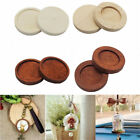 5/20x Round Wooden Cameo Cabochon Setting Base/Tray Pendants DIY Necklace Making