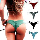 Women Brazilian Cheeky Bikini Bottom Thong Traingle Swimwear Bathing Suit