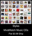 Styles(68) - Mix&Match Music CDs - $3.99 flat ship