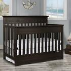 Dream On Me Chesapeake 5-in-1 Convertible Crib, Platinum and Navy  фото