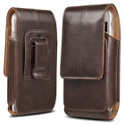 Business Men Vertical Leather Cell Phone Pouch Case Holster Belt Loop Holder US