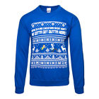 Rick & Morty Official Blue Bad Christmas Jumper Sweatshirt - Mens/Womens