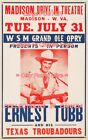 "ERNEST TUBB 1956 = Concert MADISON DRIVE-IN W. Virginia = POSTER 7 SIZES 19""-36"""