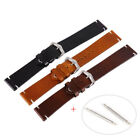 US Oily Discolor Calf Leather Wrist Watch Band Steel Buckle Belt Strap 18-22