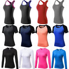 Women's Athletic Gym Yoga Running Volleyball Vests Moisture Wicking T-shirts