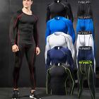 Men's Compression Running Tights Athletic Base Layers Basketball Gym Yoga Jersey