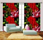 3D Flowers 3291 Blockout Photo Curtain Printing Curtains Drapes Fabric Window AU