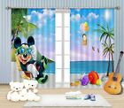 3D Funny Beach Blockout Photo Curtain Printing Curtains Drapes Fabric Window AU