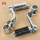 "Adjustable Highway Foot Pegs Peg 1 1/4"" 32mm Long Angled Mount Kit For Harley"