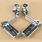 "Adjustable Highway Foot Pegs Peg 1 1/4"" 32mm Long Angled Mount Kit For Harley  image"