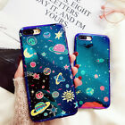 Luxury Cartoon Planet Moon Star Phone Case Cover For Apple iphone X 6S 7 8 Plus