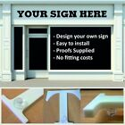 Acrylic stand off letter shop sign design you own logo, bespoke size DIY install