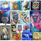 DIY 5D Diamond Embroidery Owl Animal Painting Cross Stitch Tool Kit Craft Decor