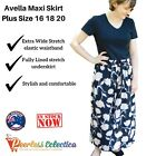 NEW Plus Size 16 18 20 AVELLA Ladies Maxi Skirt Elastic Waist Lined RRP $25