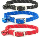 REFLECTIVE & ELASTICATED CAT COLLAR - (with bell) - Ancol Soft Pet bp Night Safe