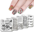 UR Sugar Square Nail Art Stamping Plates Valentine's Day Image Templates Tools
