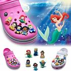 Внешний вид - 2pcs Princess PVC Shoe Charms Kid Shoe Accessories/Decor Fit Bracelets JIBZ