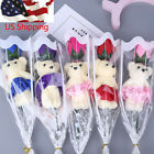 Creative Gifts Flower Bear Rose Soap Cartoon Bouquet Wedding Use Mother's Day US